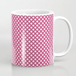 Raspberry Sorbet and White Polka Dots Coffee Mug