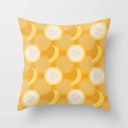 Banana Bunch Throw Pillow