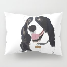 English Springer spaniel dog b/w Pillow Sham