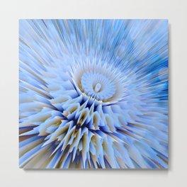 Blue 3D essence of a mandala Metal Print