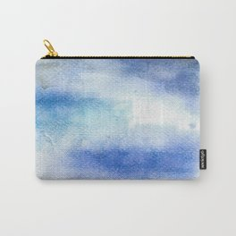 Blue Watercolor Carry-All Pouch
