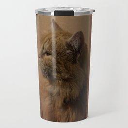 Red cat  Travel Mug