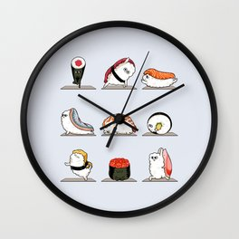 Sushi Yoga Wall Clock