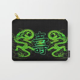 Asian Long Life Green Carry-All Pouch