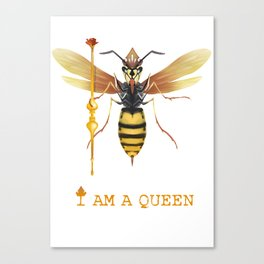I am a Queen Canvas Print