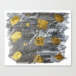Gold Leaf on Marble Canvas Print