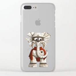 Loyolo - The Loyal Elephant Clear iPhone Case
