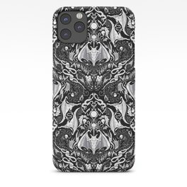 Bats And Beasts - Black and White iPhone Case