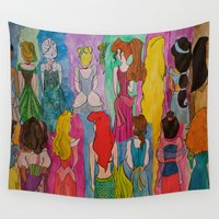 girls Wall Tapestries featuring  Girls  by Jgarciat