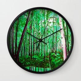 Green Office Wall Clock