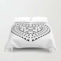 insects Duvet Covers featuring Insects by lllg