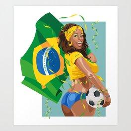 Brazilian Soccer Fan Art Print