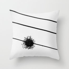 Power Lines III Throw Pillow