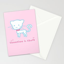 Taxation Is Theft Kitty Stationery Cards