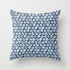 Shibori six Throw Pillow