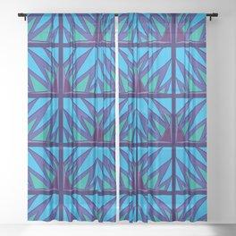 Decorative Purple Points Sheer Curtain