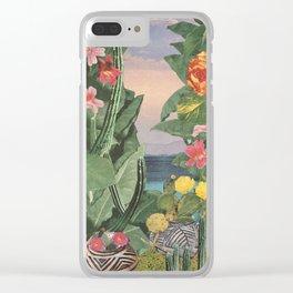 Botanical Cove Clear iPhone Case
