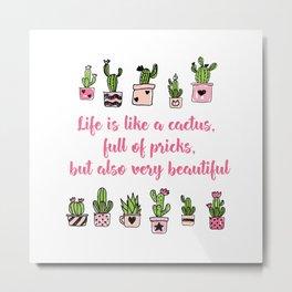 cactus love  Metal Print