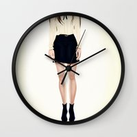 coven Wall Clocks featuring Coven by Isaiah K. Stephens