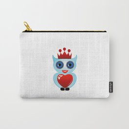 Friendly owl with red crown and heart Carry-All Pouch