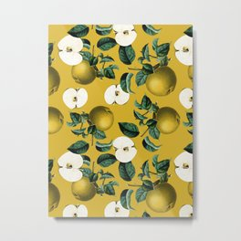 Vintage Fruit Pattern III Metal Print