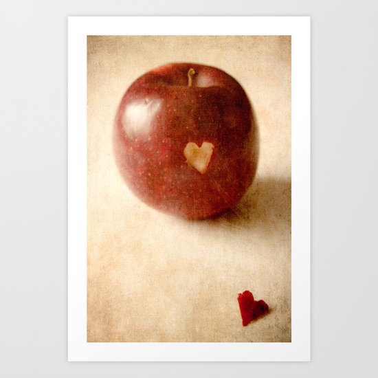 Apple Heart Art [Repost especially for Autumn] Art Print