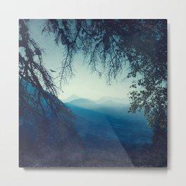 Blue Mountain Morning Metal Print