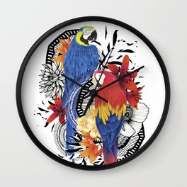 Macaws Wall Clock