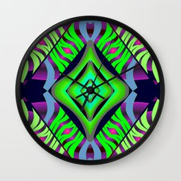 Mystic Diamond on Green/Purple/Pink/Light Blue/Navy Wall Clock