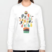 plant Long Sleeve T-shirts featuring Potted Plant 4 by Picomodi