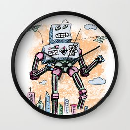 Giant Robot aka Mr. Clampy Hands Wall Clock