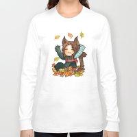 bucky Long Sleeve T-shirts featuring fall - bucky by noCek
