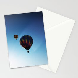 Rainbow Hot Air Balloons Stationery Cards