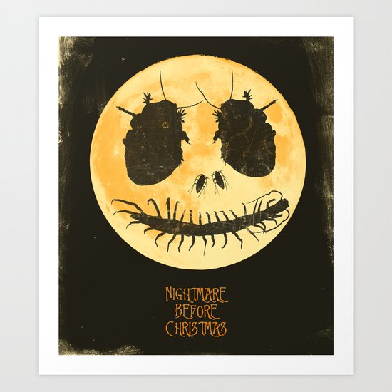 Nightmare Before Christmas - Movie Poster Art Print by Joel Amat ...