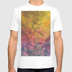 NEON MOUNTAINS / PATTERN SERIES 006 MEDIUM Mens Fitted Tee White
