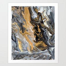 Gold Vein Marble Art Print
