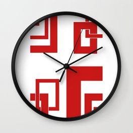 4.6 - frames - red Wall Clock