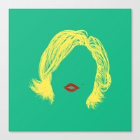 monroe Canvas Prints featuring Monroe by fly fly away