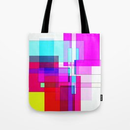 Squares combined no. 5 Tote Bag