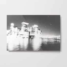 The Night Freezes Lonely Metal Print