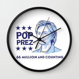 POP PREZ 4 Wall Clock