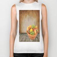 fruit Biker Tanks featuring fruit by Shea33