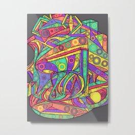 Face - Abstract Drawing Metal Print