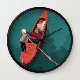 venice boat Wall Clock