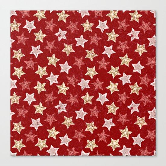 Festive Stars Canvas Print