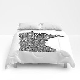 Typographic Minnesota Comforters