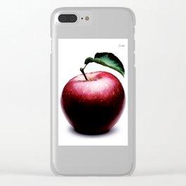 Grosse pomme rouge colors fashion jacob's 1968 paris Clear iPhone Case