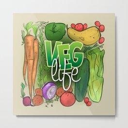 Veg Life Metal Print