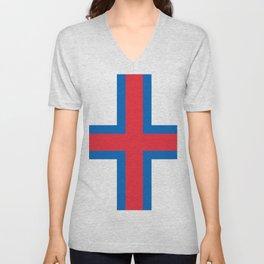 Flag of Faroe Unisex V-Neck