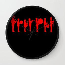 Marching bands black Wall Clock